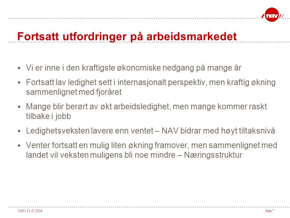 NAV, 11.07.2014Side 8 Helt ledige. Hedmark januar 2008 – sept. 09