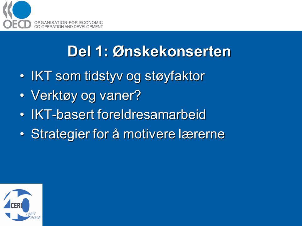 Del 1: Ønskekonserten IKT som tidstyv og støyfaktorIKT som tidstyv og støyfaktor Verktøy og vaner Verktøy og vaner.