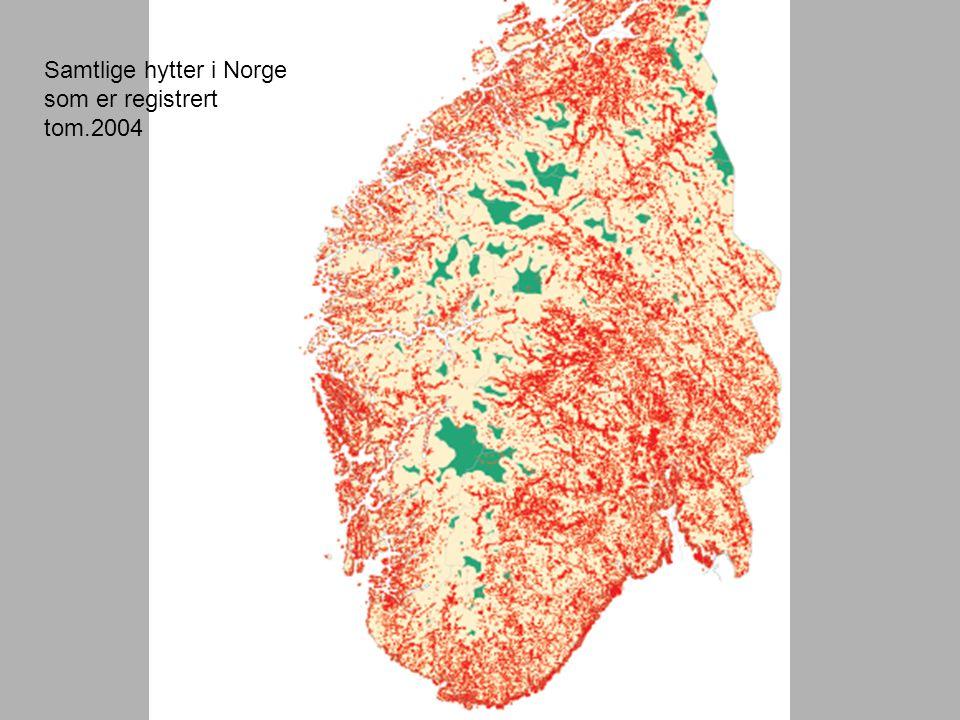 Samtlige hytter i Norge som er registrert tom.2004