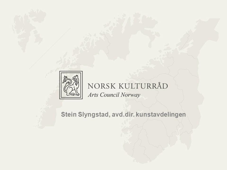 Norsk kulturråd Stein Slyngstad, avd.dir. kunstavdelingen