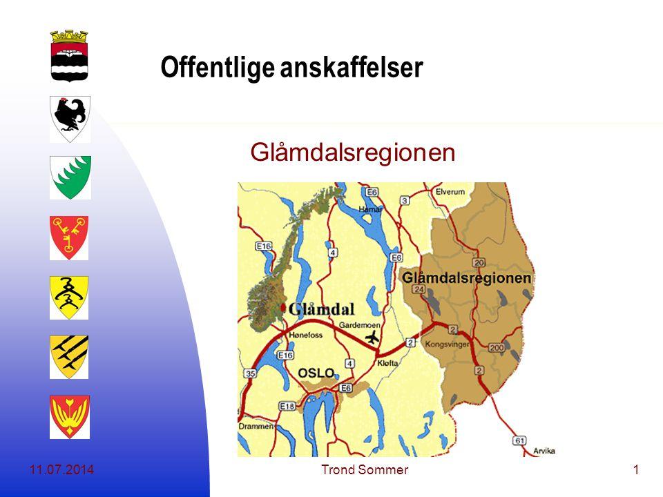 11.07.2014Trond Sommer1 Offentlige anskaffelser Glåmdalsregionen