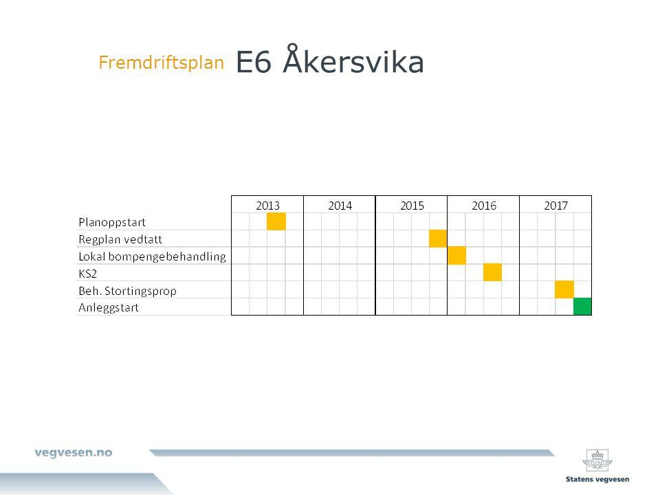 E6 Åkersvika Fremdriftsplan
