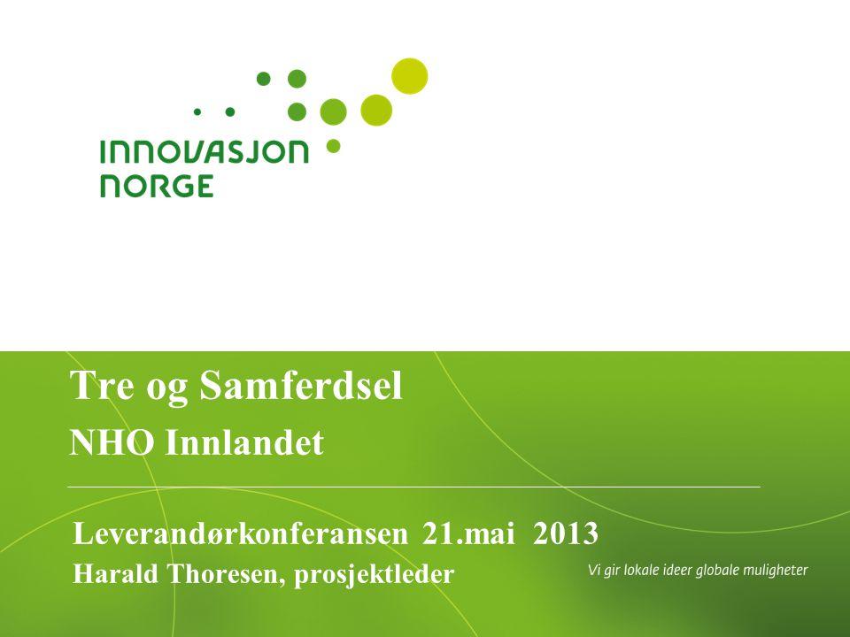 Leverandørkonferansen 21.mai 2013 Harald Thoresen, prosjektleder Tre og Samferdsel NHO Innlandet
