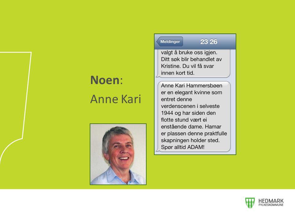 Noen: Anne Kari