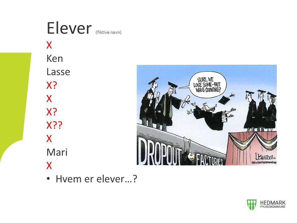 X Ken Lasse X? X X? X?? X Mari X Hvem er elever…? Elever (fiktive navn)