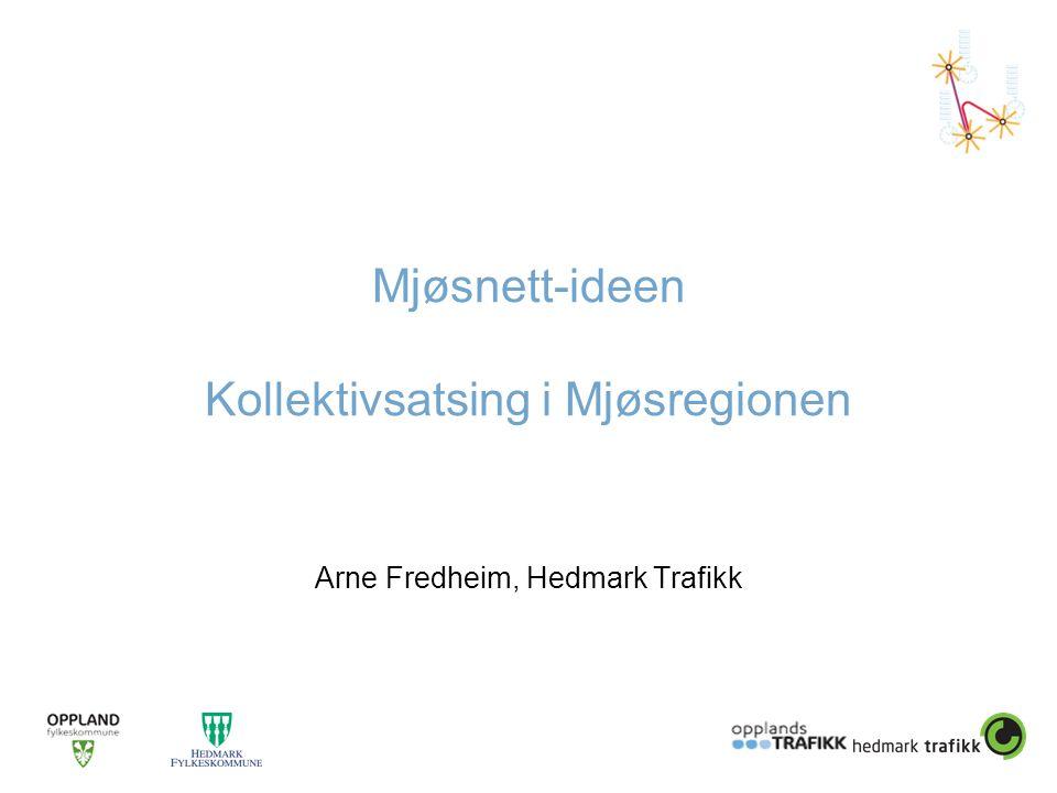 Mjøsnett-ideen Kollektivsatsing i Mjøsregionen Arne Fredheim, Hedmark Trafikk