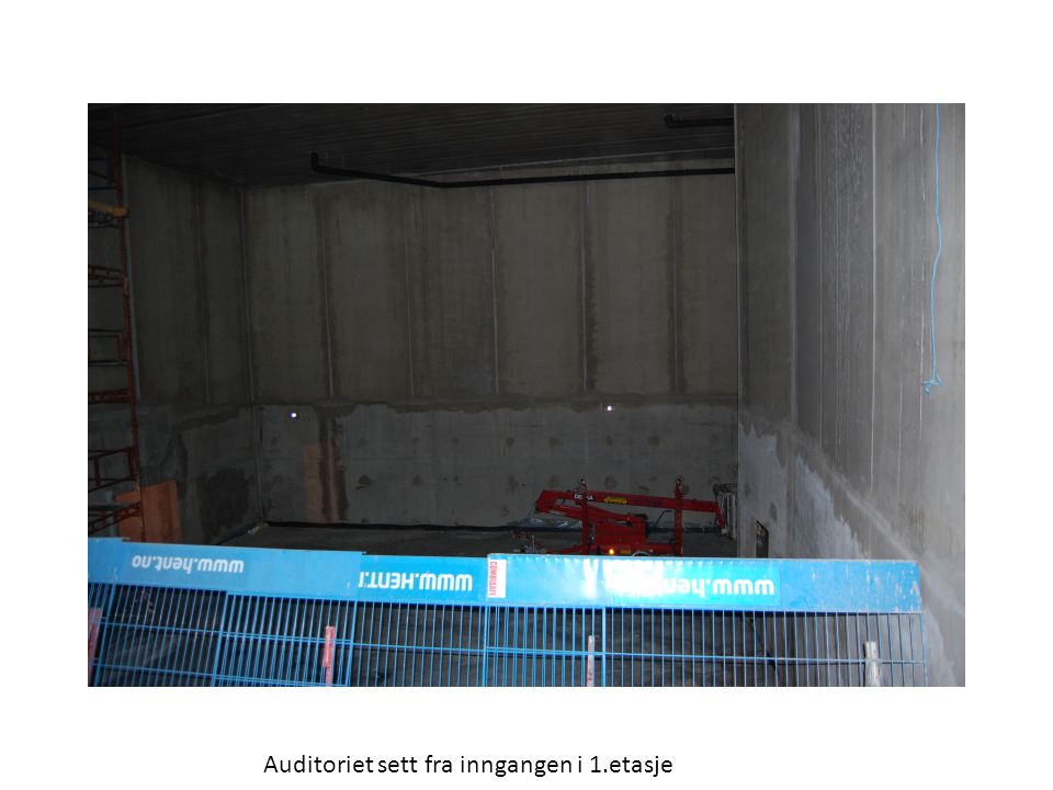 Auditoriet sett fra inngangen i 1.etasje