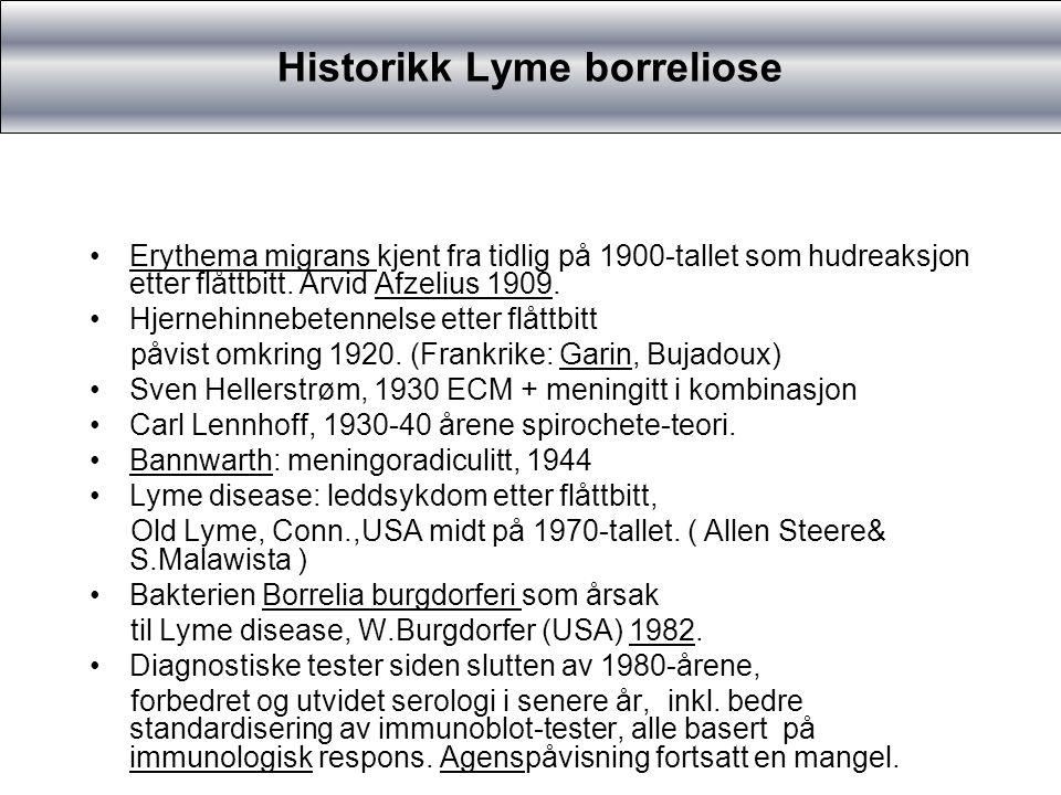 Evt.antibiotikaprofylakse etter flåttbitt Lang kontakttid Områder med stor borrelioserisiko Gravide.