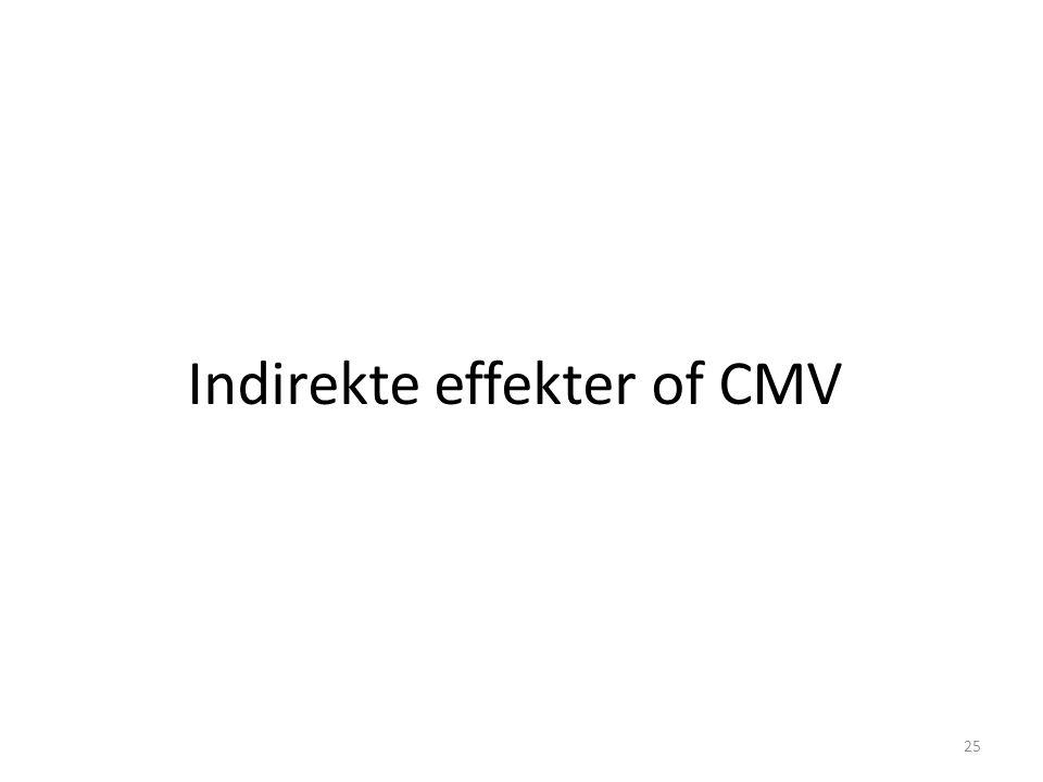Indirekte effekter of CMV 25
