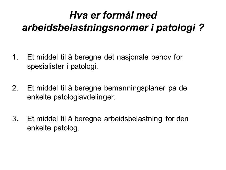 Mandat for Skjørten-utvalget til ….et poengberegningssystem hvor norske patologers arbeidsbelastning for henholdsvis obduksjon, histologiske prøver og for ulike typer av cytologiske prøver uttrykkes i poeng slik at sammenligning av arbeidsoppgaver blir mulig. Dette arbeidet inngikk som ledd i planlegging av langsiktige målsetninger for patologiservicen i Norge.