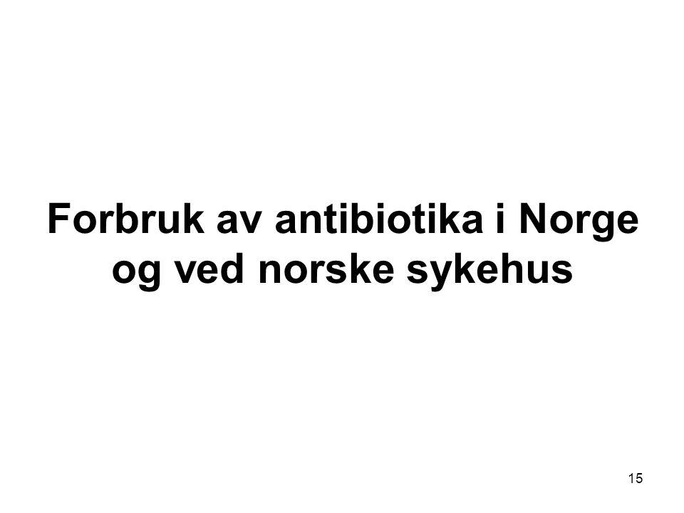 15 Forbruk av antibiotika i Norge og ved norske sykehus