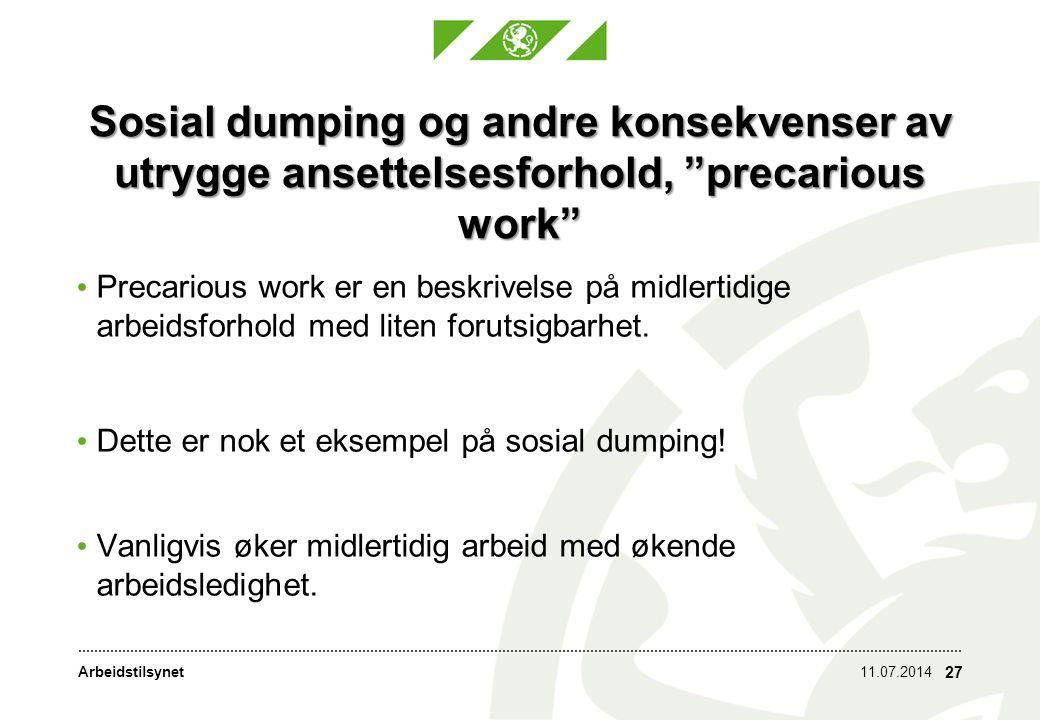 Arbeidstilsynet Utrygge ansettelsesforhold I Norge er bruken av midlertidige ansettelser totalt sett lav sammenlignet med andre land.
