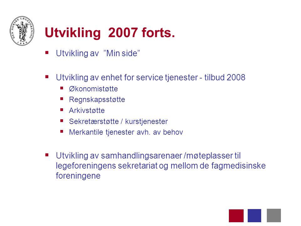 Utvikling 2007 forts.