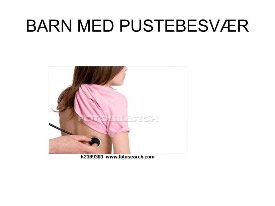 BARN MED PUSTEBESVÆR