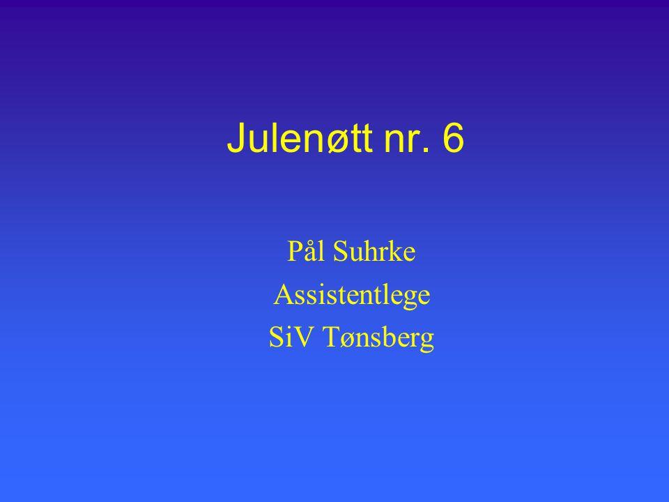 Julenøtt nr. 6 Pål Suhrke Assistentlege SiV Tønsberg