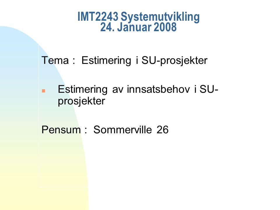 IMT2243 Systemutvikling 24.