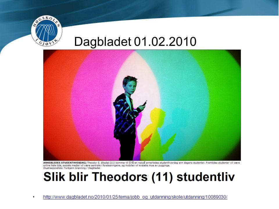Dagbladet 01.02.2010 http://www.dagbladet.no/2010/01/25/tema/jobb_og_utdanning/skole/utdanning/10089030/