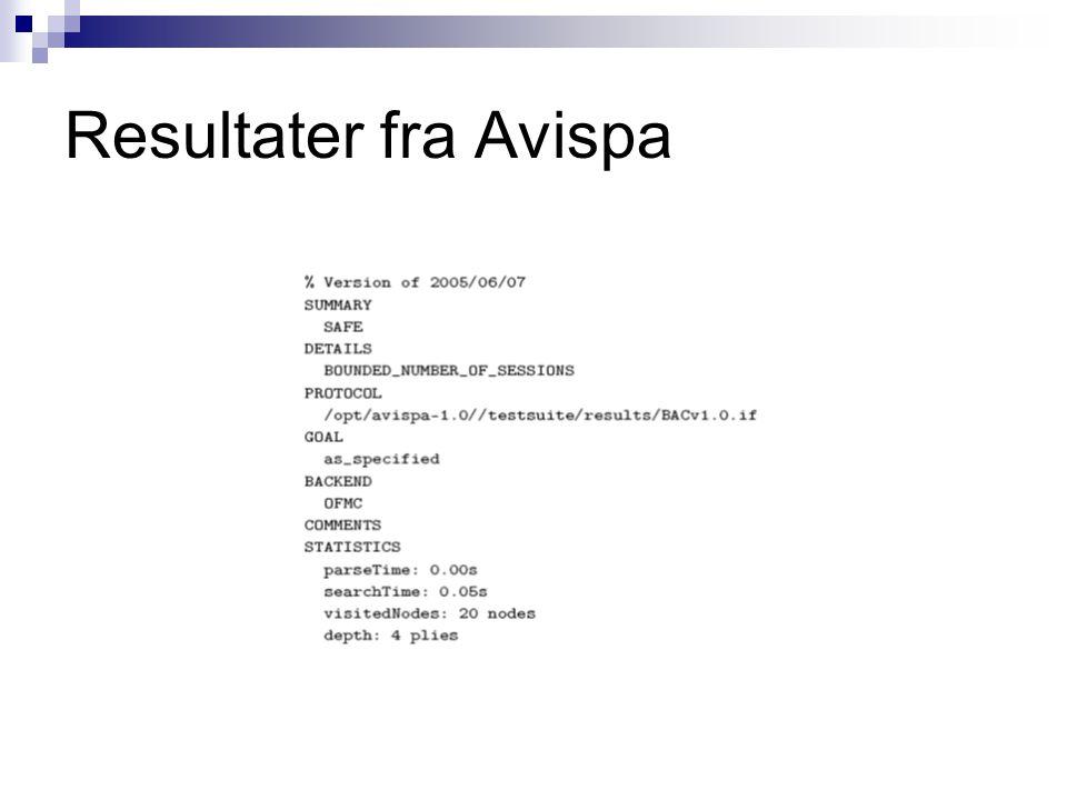Resultater fra Avispa