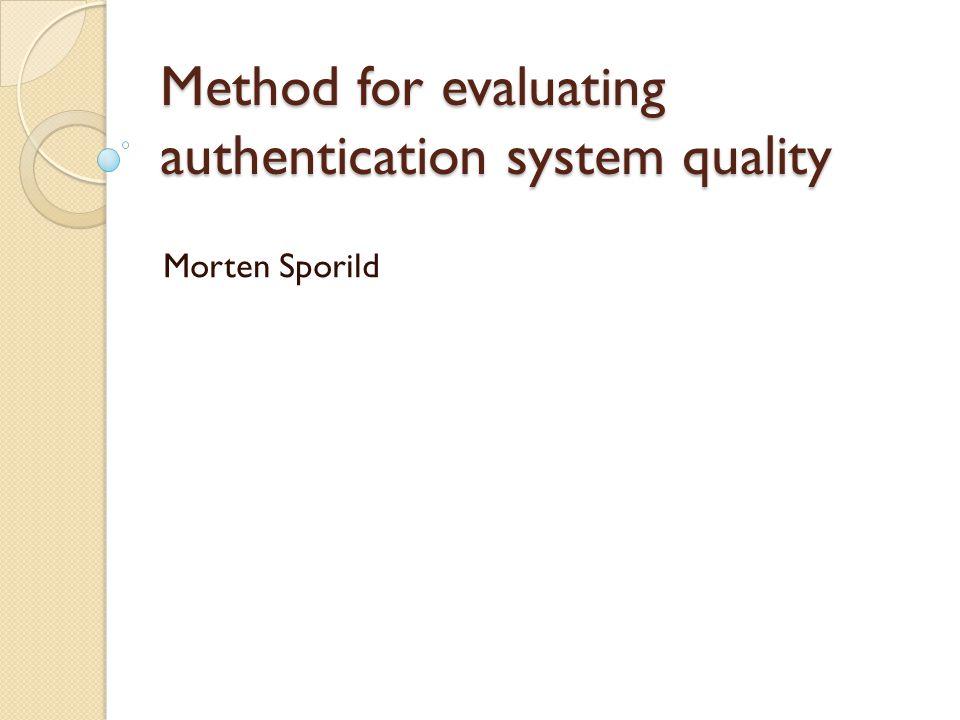 Hva er autentisering.
