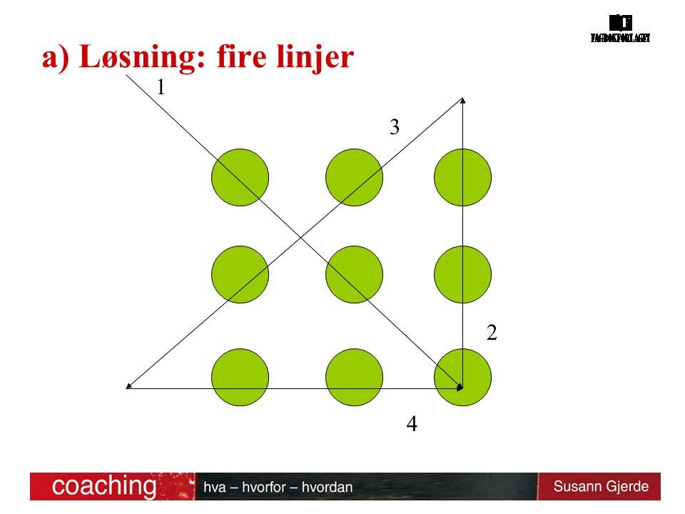 a) Løsning: fire linjer 1 2 3 4