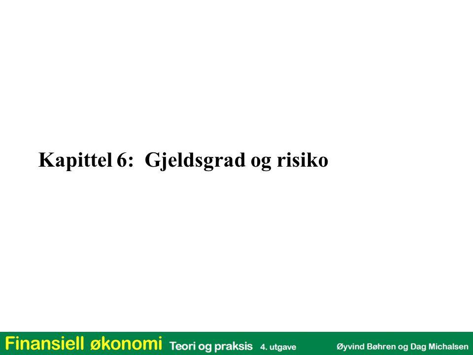Kapittel 6: Gjeldsgrad og risiko