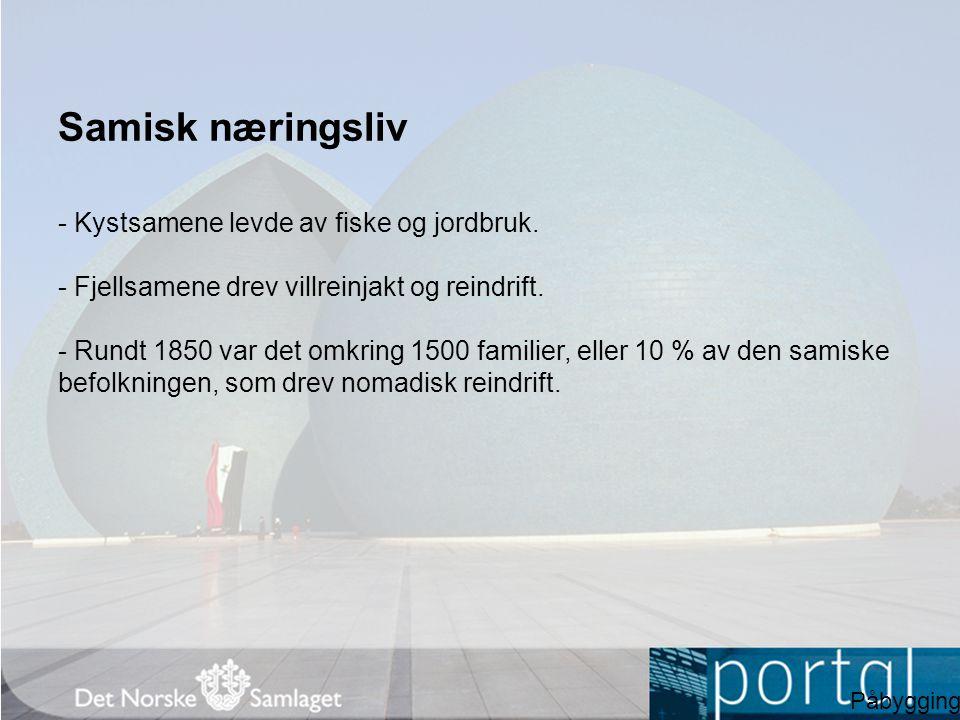Samisk næringsliv - Kystsamene levde av fiske og jordbruk.