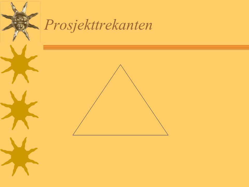 Prosjektdefinisjon  Spesifikk, avgrenset arbeidsform som skal fullføres innenfor en avgrenset tidsperiode av en bestemt gruppe mennesker for å nå et