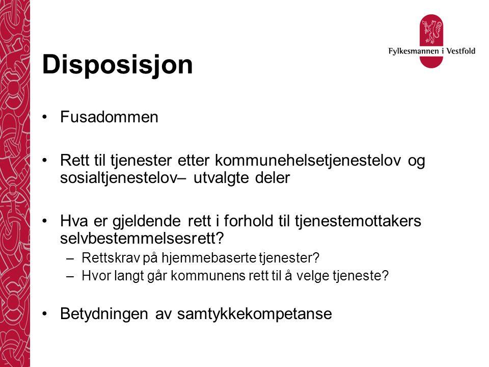 Fusadommens hovedpunkter Rt: 1990 s.