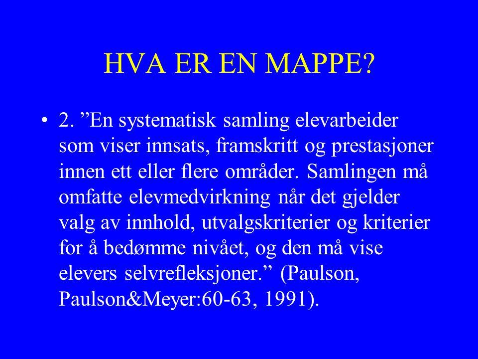 HVA ER EN MAPPE.2.