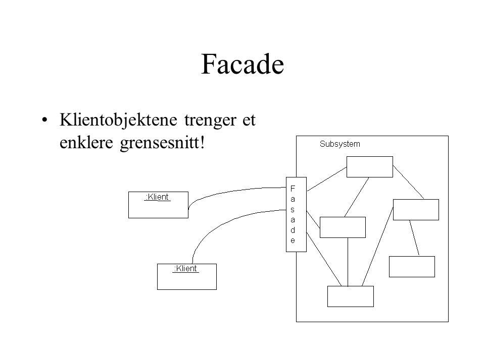 Facade Klientobjektene trenger et enklere grensesnitt!