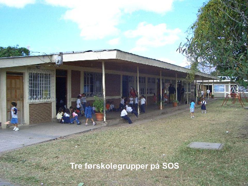 Tre førskolegrupper på SOS