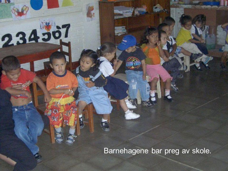 Barnehagene bar preg av skole.