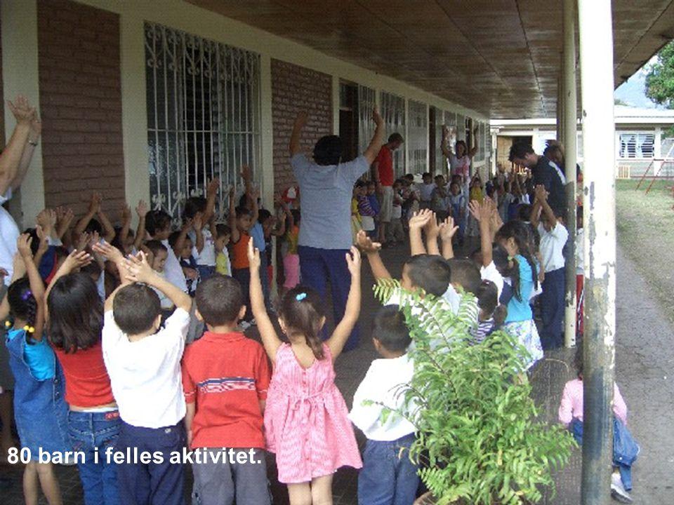 80 barn i felles aktivitet.