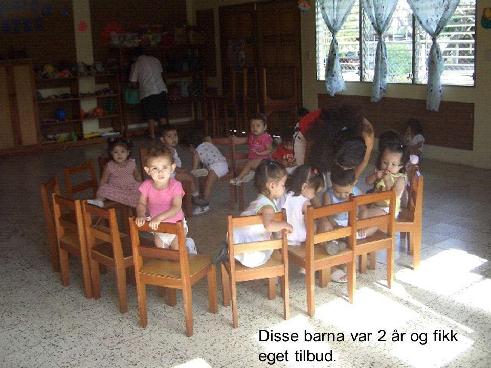 Disse barna var 2 år og fikk eget tilbud.
