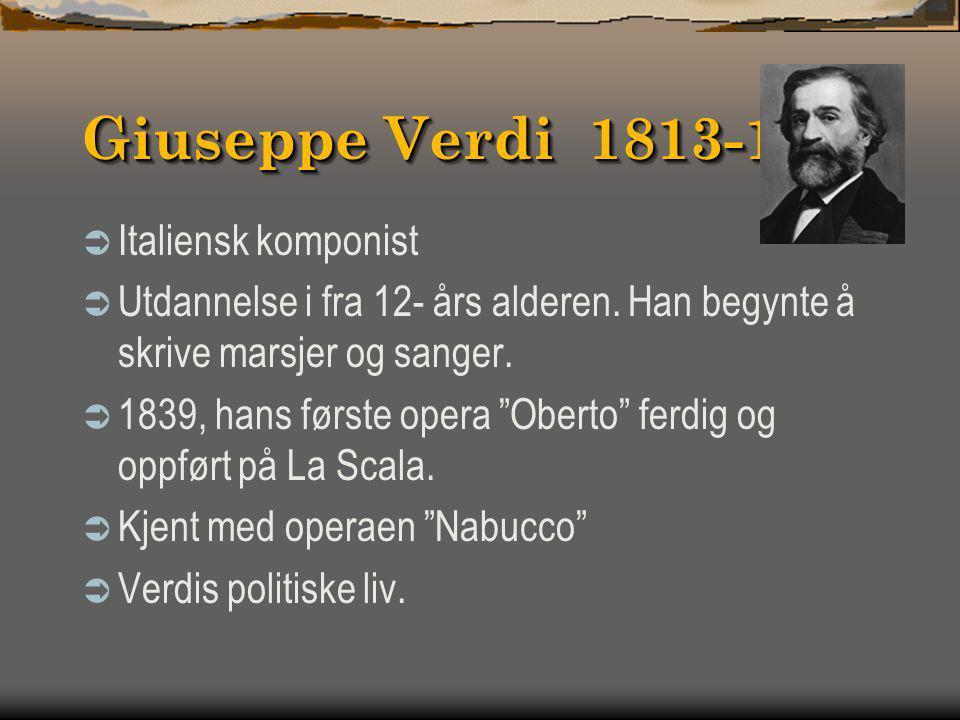 Georges Bizet 1838-1875  Kanskje den mest kjente komponisten av alle franske komponister i midten av forrige århundre.  Mest kjent for operaene sine