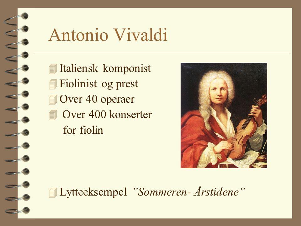 Georg Friedrich Händel 4 Tysk/britisk komponist 4 Rik og velstående 4 Skrev 46 operaer 4 Oratorier 4 Lys og lett musikk 4 Underholde folket 4 Lytteeks