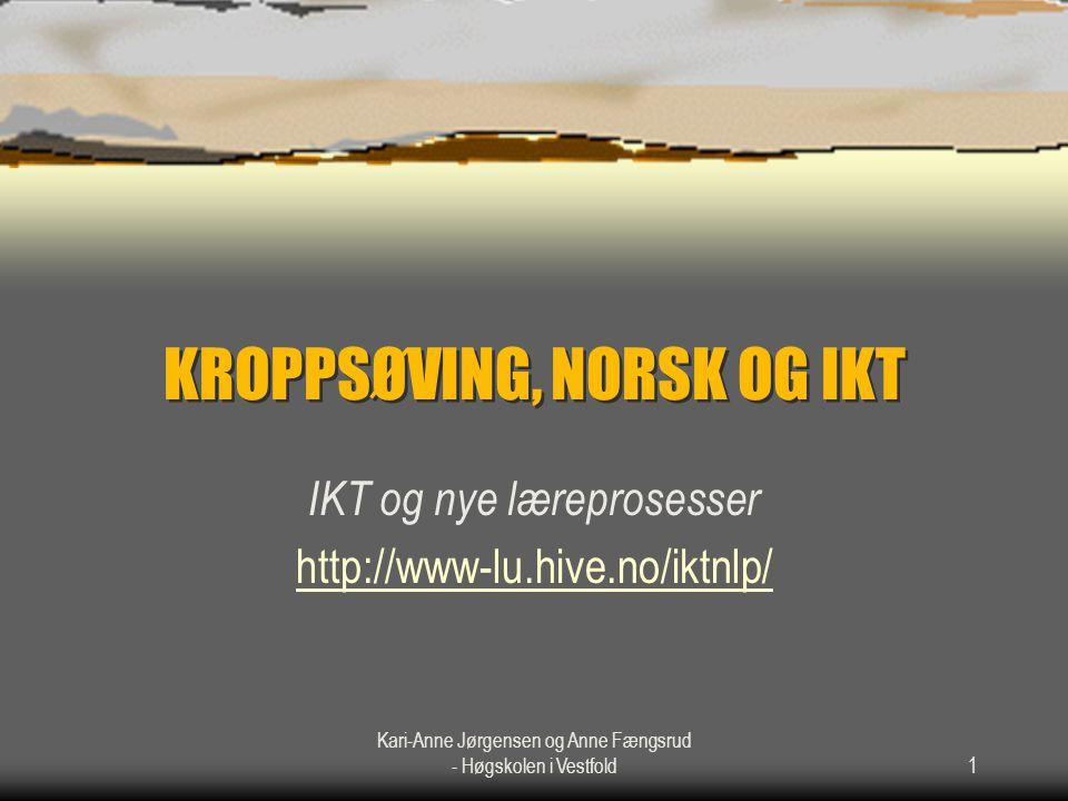 Kari-Anne Jørgensen og Anne Fængsrud - Høgskolen i Vestfold2
