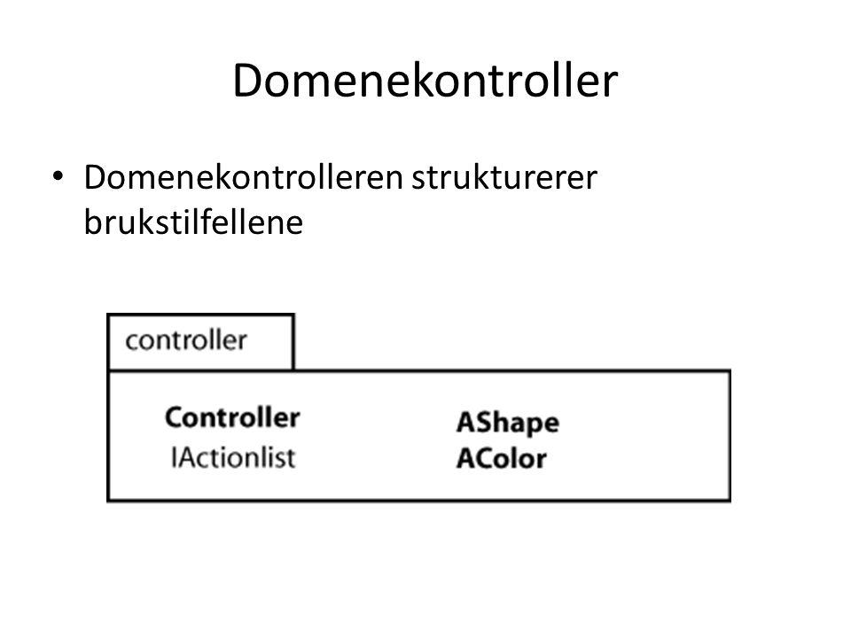 Domenekontroller Domenekontrolleren strukturerer brukstilfellene