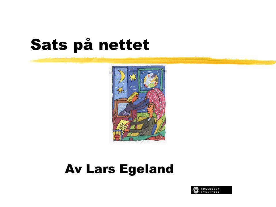 Sats på nettet Av Lars Egeland