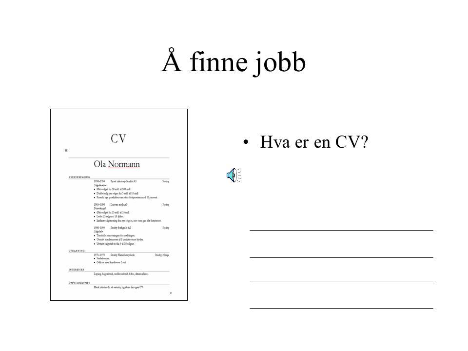 Å finne jobb Hva mer kan Aetat hjelpe deg med?