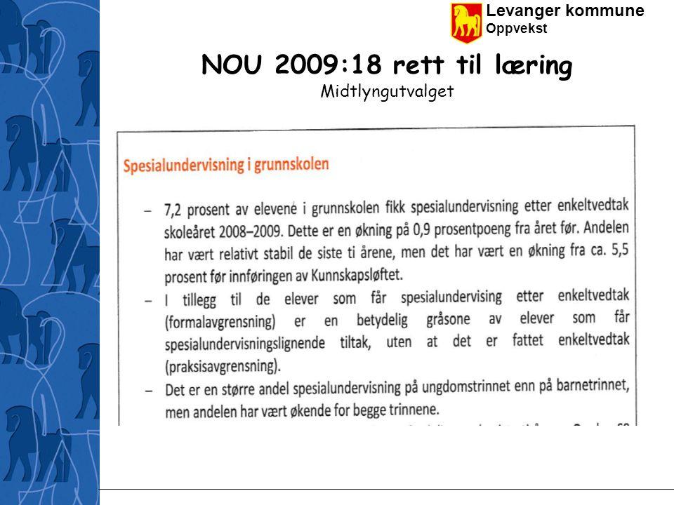 Levanger kommune Oppvekst NOU 2009:18 rett til læring Midtlyngutvalget