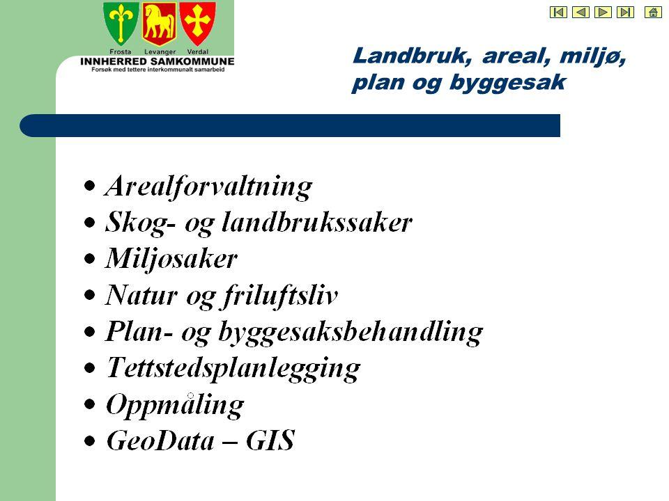 Landbruk, areal, miljø, plan og byggesak