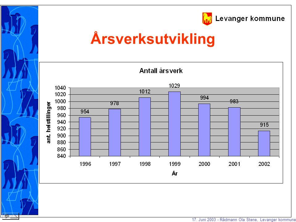 17. Juni 2003 - Rådmann Ola Stene, Levanger kommune Underskuddsdekning