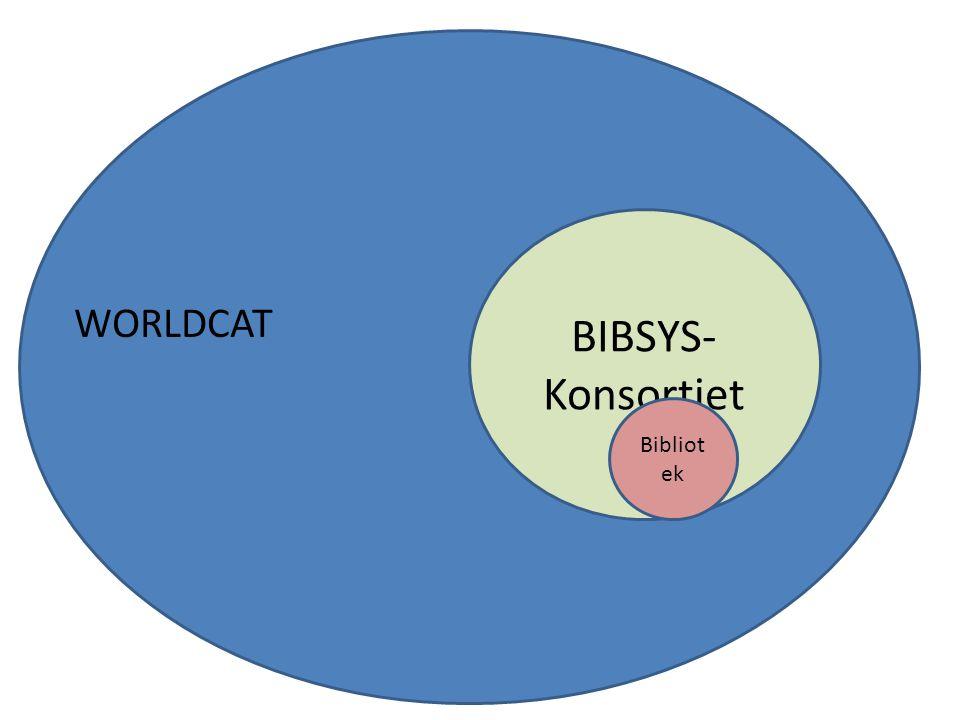 BIBSYS- Konsortiet Bibliot ek WORLDCAT