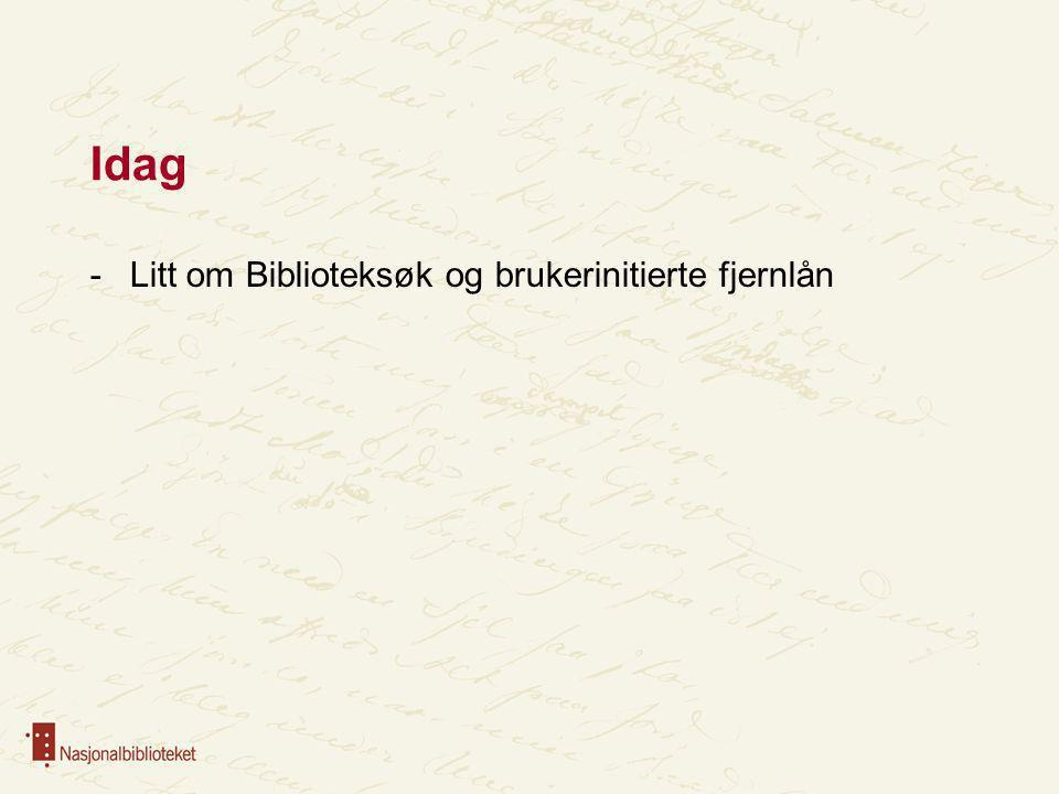 Bibliotekmeldinga Nasjonalbiblioteket vil i nært samarbeid med involverte aktørar realisere Biblioteksøk med utgangspunkt i moderniseringsbehov i Norsk samkatalog for bøker, og ei teneste med brukarinitiert fjernlån.