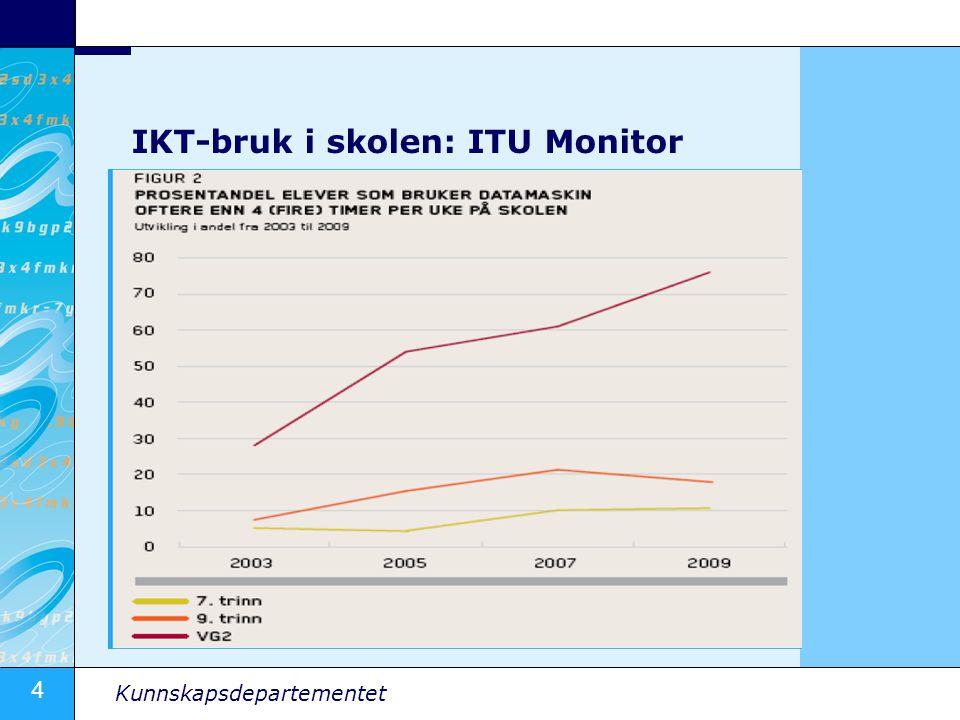 4 Kunnskapsdepartementet IKT-bruk i skolen: ITU Monitor