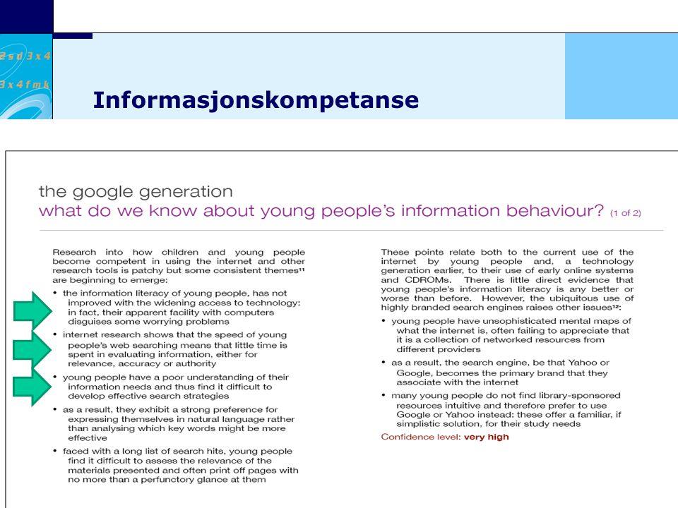 6 Kunnskapsdepartementet Informasjonskompetanse