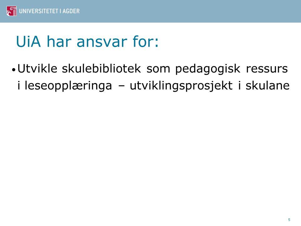 26 19 skular 1-7 7 skular 1-10 8 skular 8-10 55 - 600 elevar på skulane 4 kommunar tilskot til 2 skular kvar 16 fylke representerte (minus Finnmark, Oppland, Oslo)