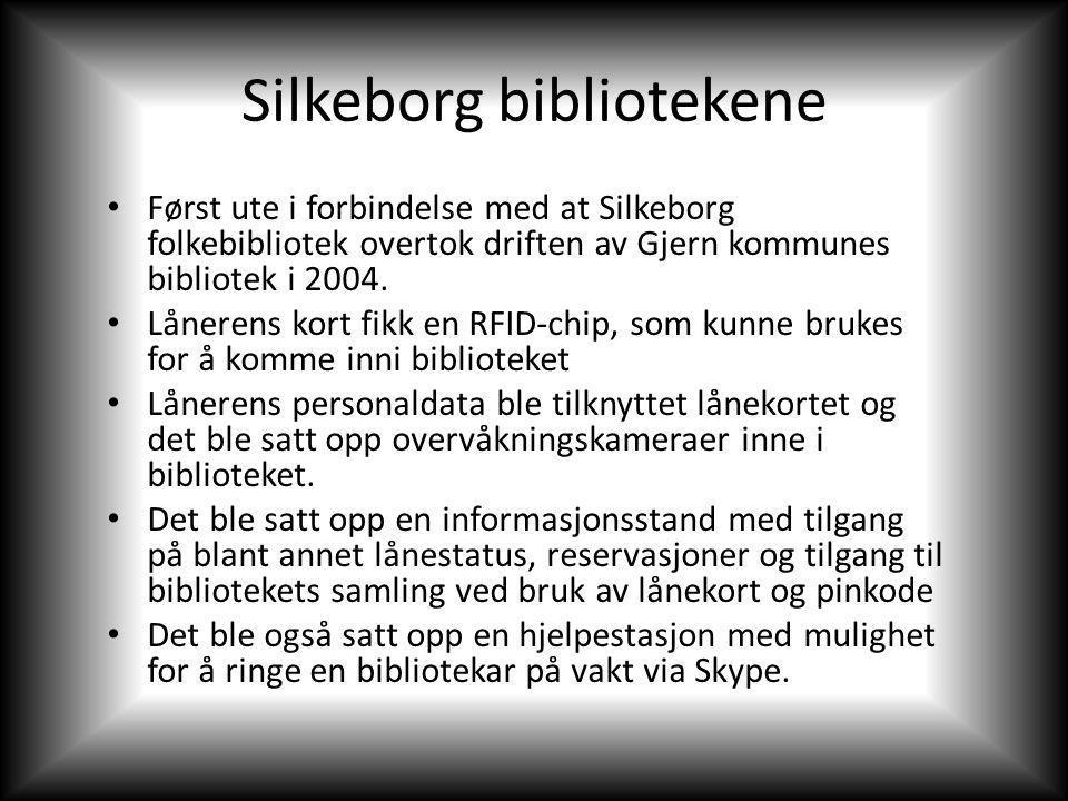 Silkeborg bibliotekene Først ute i forbindelse med at Silkeborg folkebibliotek overtok driften av Gjern kommunes bibliotek i 2004.