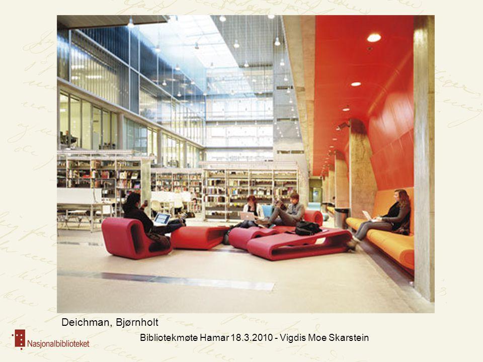 Bibliotekmøte Hamar 18.3.2010 - Vigdis Moe Skarstein Deichman, Bjørnholt